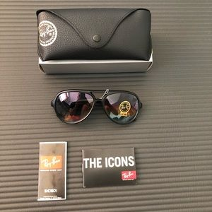 Ray-Ban CATS-5000 RB4125 RB Mirrored G-15 59mm